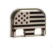 Stainless Steel Flag Back Plate For Glock And P80 Slide Plate