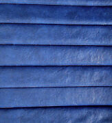 Pleated Vinyl Seat Upholstery Auto/boat 1 3/8 Heat Stamped Padded Blue2-14