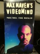 Max Maven Videomind Stage Mentalism Vhs Video Tape