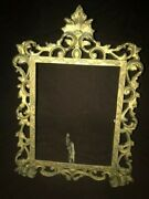 Antique Victorian Hinged Easel Picture Frame Photo Mirror Frame Marked Mm G