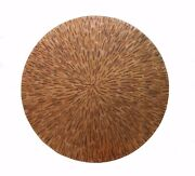 Mexican Round Copper Table Top Hand Hammered 54 Inches Fire Patina