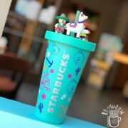 New 2020 Summer China Starbucks 18oz Playing And Singing Bear Straw Cup Bottle