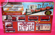 Toy State Classic Western Express Battery Operated Train Set Western Station
