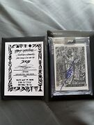 Topps Project 2020 Mariano Rivera Jk5 Artist Auto Blue Ink /155 Sold Out 1st Ed