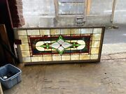 Antique Stained Glass Window Lead Window