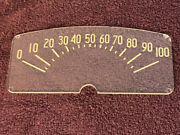 Nos 1942 Plymouth Deluxe Instrument Cluster Speedometer Face Cover