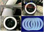 16 Inch Diameter 3.15 80mm Wide Fresh Rubber Whitewall Tire Trim Pack Of4