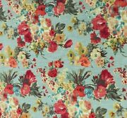 4 Drapes Hgtv Odessey In Fog Blue Monet Style Floral Print