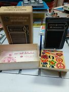 Ge General Electric 6 Transistor Portable Miniature Radio Works W/stickers And Box