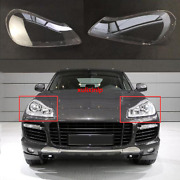 For 2008-2010 Porsche Cayenne Left And Right Headlight Headlamp Lens Cover 2pcs