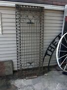 Large Antique Iron Architectural Door Wrought And Cast W/ Greek Key