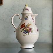 Vienna Coffee Pot Colourful Flower Groups C.1765