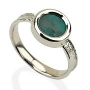 Silver And Roman Glass Solar Ring, Israeli Jewelry, Handmade Ring From Israel
