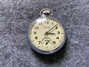Trio By Ingraham Mechanical Wind Up Vintage Pocket Watch - Issue