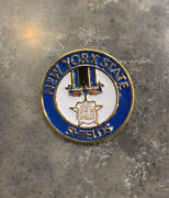 """New York State Shields Police Mini Badge Lapel Pin Button 1990 1"""""""