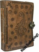 Leather Travel Journal, Handmade Vintage Writing Bound Notebook For Menand Women