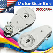 Us 2pcs 12v 30000rpm Plastic Electric Motor With Gear Box For Kids Power Usa