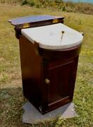Union Castle Line C-1900 1st Class Stateroom Ocean Liner Ships Washstand