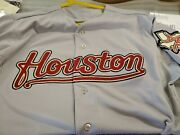 2004 Gray Road Cool Base Mesh Game Day Jersey Houston Astros Size 44