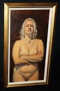Hawaii Framed Oil Painting Female Nude Amber W. Attitude By Snowden Hodges Sh