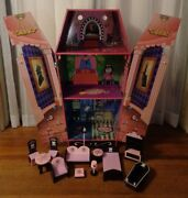 Monster High Dead Tired Vampire Dracula's Large Coffin Bed Dollhouse + Furniture
