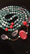 Old Jadeite Necklace Pendant Qing Dynasty Minister's Jade Necklace朝珠