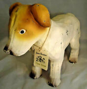 James Hadden Wooden Jack Russell Dog Figurine Hand Carved And Hand Painted