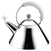New Alessi Michael Graves Kettle With Bird Whistle White