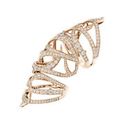 14k Rose Gold Lab Created 3.50ct Diamond Round Cut Cocktail Ring Size 7