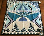 Nos Vintage Emilo Pucci 70s Scarf Abstract Print 100 Silk Signed Rare