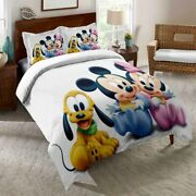 3d Love Mickey Minnie Mouse Bedding Set Duvet Cover Comforter Cover Pillow Case