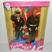 Star N Stripes Marine Corps Barbie And Ken 1991 Special Edition New Mattel 4704