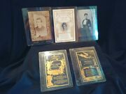 Lot Of 5 Antique Remembrance Death Funeral Notice Victorian Cabinet Cards