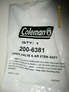 Coleman Check Valve And Air Stem Assembly 200-6381 Lanterns And Stoves