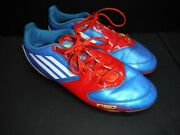 Adidas F50 Traxion Soccer Cleats Blue Red Male Size 6