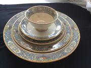Lenox China Autumn Patern 5 Piece Setting Service For 8 Plus More
