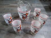 Lot 6 70s Burger King Restaurant Drinking Glasses Pitcher Kids Can Be A King