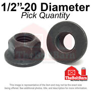 1/2-20 Grade 8 G Hex Flange Top Lock Nuts Fine Phos And Oil Pick Quantity