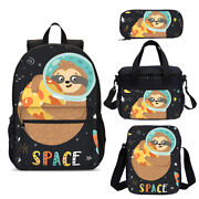 Animal Sloth Space Children Schoolbag Insulated Lunch Box Pencil Case Gifts Lot