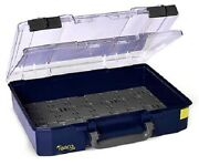 Raaco Carrylite Single Compartment Box Blue- 83x337x278mm Or 83x413x330mm