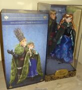 Disney Store Limited Edition Anna And Kristoff Frozen Dolls 2237