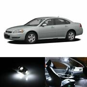 15x White Interior Led Lights Package Kit Fits 2006-2011 Chevy Impala