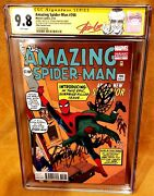 💥amazing Spiderman 700 Ditko Cgc 9.8 Ss Stan Lee 94th Bday Signed Head Sketch