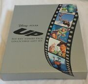 Disney Pixar Up Blu-ray Combo Pack Collectible Gift Set Dvd Movie Litho Books