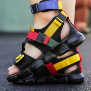 Roma Strappy Mens High Top Ankle Strap Sports Sandals Open Toe Shoes Hip Hops Sz