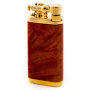 Im Corona Old Boy Pipe Lighter Gold Plate Smooth Briar 64-5009 New In Box