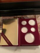 1995-w Gold Silver Eagle 10th Anniv. 5 Coin Proof Box Only No Coins Or Coa