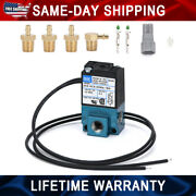 New 3 Port 5.4w Electronic Boost Control Solenoid Valve Kit For Most Ecu Dc12v