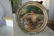 Antique White Rock Bottled Beer The Akron Brewing Co Round Tin Tray