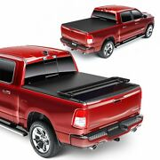 Tonneau Cover For 2009-2014 Ford F150 Soft 4-fold 5.5ft Bed Truck High Quality